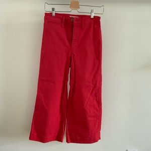 Madewell Wide-Leg Red Pants